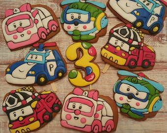 RobocarPoli Cookies (Set of 5)