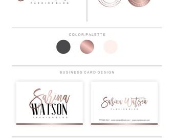Branding Package- Logos & Business Card Design, Watercolor Logo Design, Photography Logo, Wedding Logo, Fashion Logo
