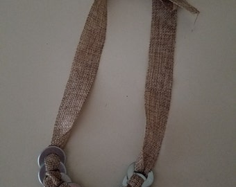 Tweed Washer Necklace