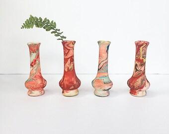 Nemadji Ceramic Bud Vase, Southwestern Pottery, Native American Pottery, Multi Color Vases