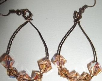 Twisted Wire w/Swarovski Crystals