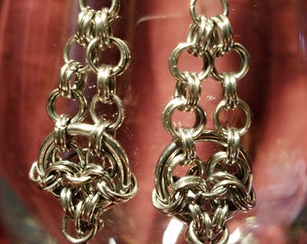 Chainmaille Linked Ring Earings