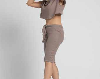 IrregularExposure.com Tan Turtle Neck Crop