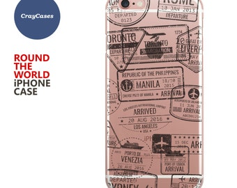 Around The World Phone Case for iPhone 7, iPhone 7 Plus, 6/s and 6/s Plus (Shipped From UK)