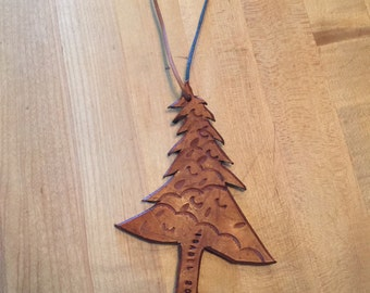 Christmas Tree Ornament Leather