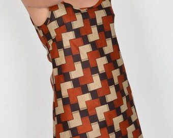 Tunic in wax, tunic or short dress, tunic with straps, fancy tunic, tunic summer tunic ethnic diamond pattern African wax