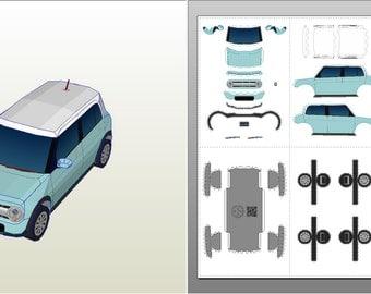 Lapin (Mint) - Car Papercraft