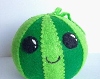 Watermelon Plush / Kawaii Plush / Food Plush / Kids / Pretend Play / Fruit / Gift / Toy / Pincushion