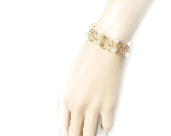 Crystal Bracelet, Bridal Bracelet, Bridesmaids Bracelet, Bridal Jewelry, Goldtone Jewelry, Wedding Jewelry, Wedding Bracelet by Durango Rose