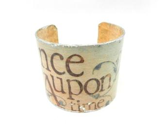 Cuff Bracelet, Bracelet Cuff, Art Cuff, Decoupage Bracelet Cuff, Once Upon a Time, Art Jewelry, Fairy Tale Cuff,Artisan Made by Durango Rose