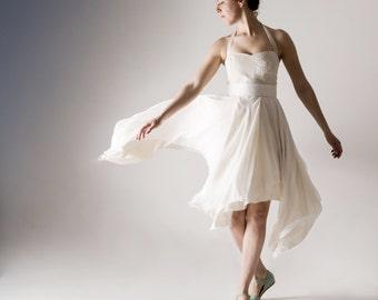 Short wedding dress, Alternative wedding dress, Hippie boho wedding dress, high-low wedding dress, Fairy wedding dress, Reception dress