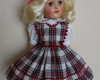 """For 16"""" Ideal P-91 Toni Doll - Three Button Jumper Dress Inspired by Original"""