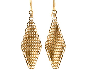 Gold Mesh Earrings // Gift Ideas for Her // 50th Birthday