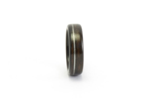 The Man's Ring, Wood Ring, Wooden Ring, Ebony Wood Ring Men, Guitar String Ring, Wood Wedding Ring, Bentwood Ring, Wood Wedding Band For Him