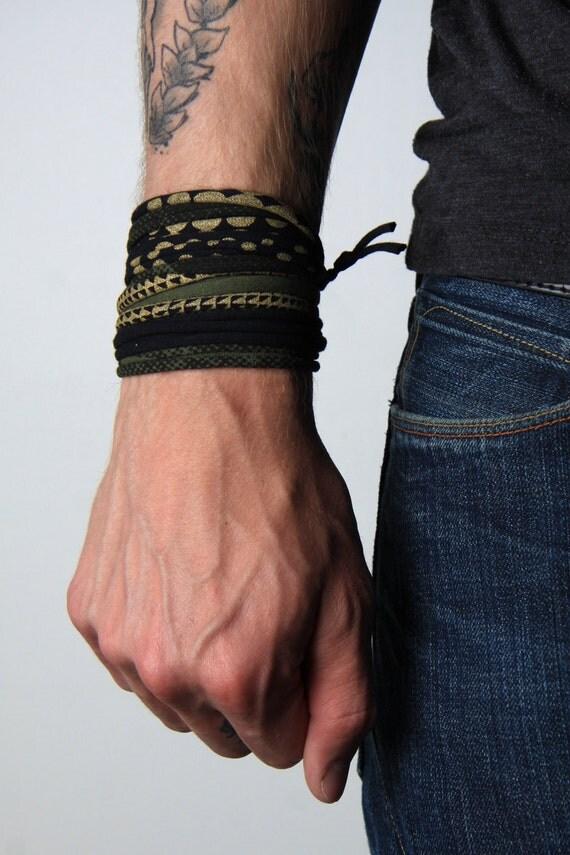 Bracelet, Green Black Bracelet, Dad Gift, Gift for Dad, Mens Gift, Gift for Men, Husband Gift, Gift for Husband, Boyfriend Gift, Boyfriend