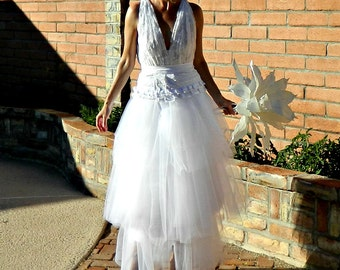 Tulle Wedding Dress-Tulle Skirt-Long Tulle Skirt-Tulle Wedding Skirt-Giselle Maxi Lace Tissue Linen Ruffled & Layered Tulle Bride Chic