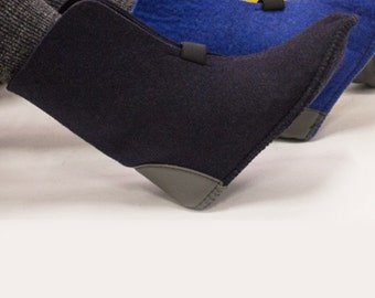 "10"" High Wool Felt Boot Liners - Blue, 85% Wool, Style 624/626, Boot Insert"
