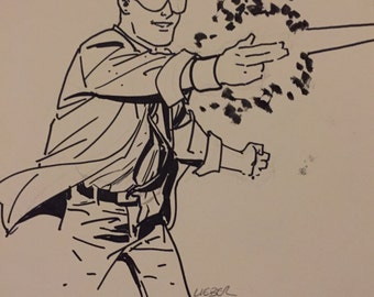 Original Sketch of Woody from Quantum  & Woody, drawn by Steve Lieber