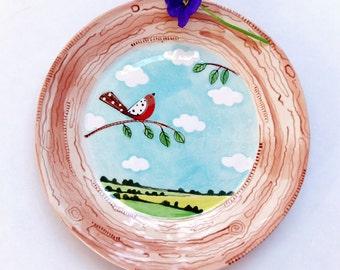 English Skies - Cake Plate