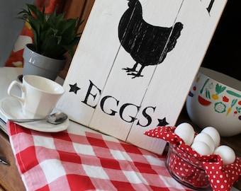 Farm Fresh Eggs Farmhouse Sign | Chick Coop Sign