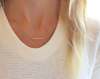 Opal Necklace, Opal Jewelry, October Birthstone, White Opal, Simple Necklace, Birthstone Necklace, Dainty Necklace