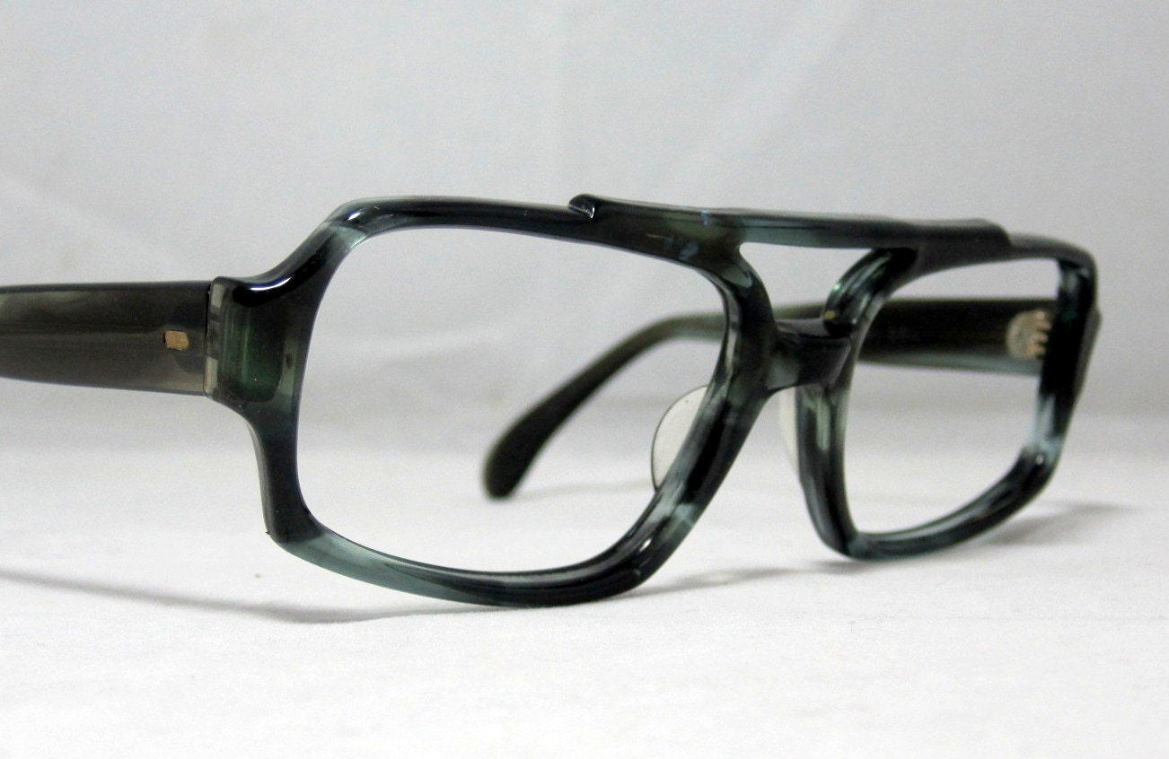 Vintage 70s Double Bridge Aviator Shape Frames