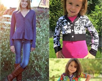 Cropped Cardi pattern & Tutorial - NB-12yrs - Girl - By LittleKiwisCloset