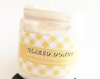 Glazed Donut Lotion, Goat's Milk and Honey Hand and Body Lotion, Body Cream, Hand Cream, Hand Lotion, Moisturizer