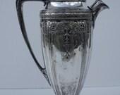 Antique Cocktail Shaker Art Nouveau Deco Silverplate By Derby Repousse Barware