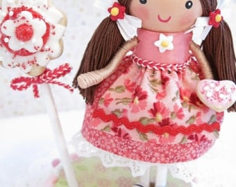Candyland Birthday Party, Sweet Shop Party, Cake Topper, Little Girls Birthday Party, First Birthday, 1st 2nd 3rd Birthday, Clothespin Doll