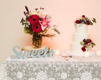 Sweets Table Sign for Wedding, Dessert Table or Cake Table Decor, Wedding or Party Decor Sign (Item - TSW100)