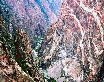 8x10 surreal color nature photograph, Black Canyon of the Gunnison No. 4