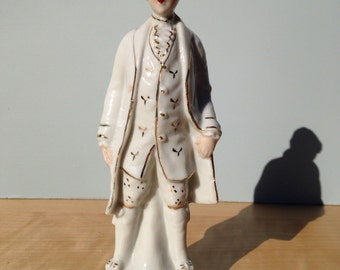 Vintage Victorian Young Man Figurine, Made in Japan