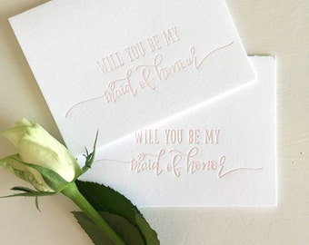 Maid of Honor Proposal, Maid of Honour Card, Will You Be My Maid of Honour, Asking Maid of Honor, Maid of Honour, Bridesmaid Proposal Gift