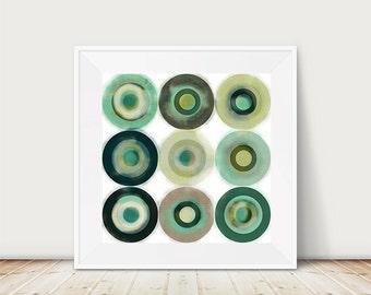 Geometric wall art, Scandinavian print, Scandinavian design, geometric abstract, nordic style, abstract poster, watercolor art