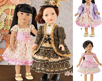 """Simplicity Pattern 8112 Lolita 18"""" Doll Clothes One Size NEW"""