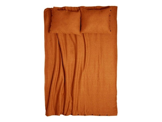 Duvet Rust linen Queen duvets King size duvet cover Twin bedding Double or full size linen duvet cover
