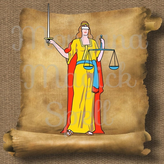 Justice Goddess Royalty Free Clipart