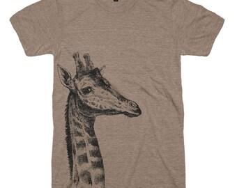Giraffe T-shirt - Animal Illustration Wild Life T shirt - Animal Novelty Gift Idea Tshirts Africa Wild and Free Soft Mens Womens T Shirts