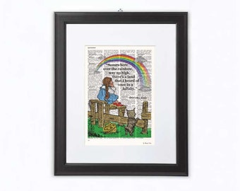Dorothy Wizard of Oz print-Somewhere over the rainbow quote print-Dorothy dictionary print-Oz wall art-Nursery print-BY NATURA PICTA-NPDP087