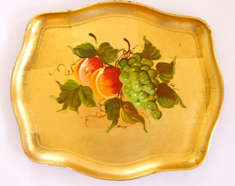 hand painted serving tray Japan