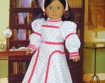 Victorian Spring Frock and Headband fits American Girl Doll Samantha