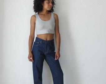 Denim jeans Vintage high waisted jeans dark denim jeans L.L bean