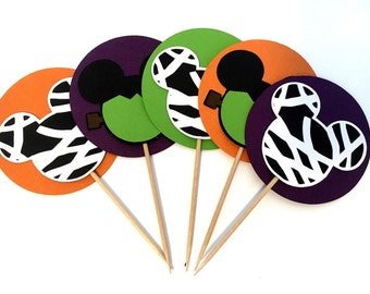 Halloween Mickey Mouse Inspired Cupcake Toppers