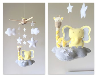 Baby Crib Mobile - Baby Mobile elephant - Neutral Mobile