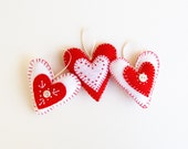 diy valentine decor, valentine embroidery kit, diy valentines, craft kit, valentine heart, felt heart ornament, felt hearts, valentines day