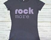 ROCK MORE Organic Clothing, Concert T-Shirt for Women, Music Shirt, Women's T-Shirt - Music Apparel for Women - Concert Tshirt