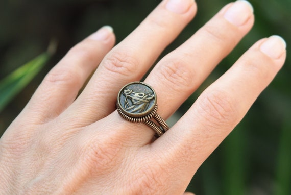 Horse ring Wire mens gift for him Head horse Poney riding ring Wire wrapped Handmade jewelry Horses Signet rings Bronze US 8.5 Top seller