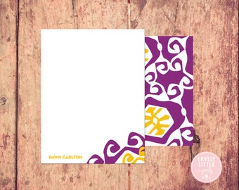 Patterned Stationery, Stationery, Women's Personalized Notecards, Abstract notecards, Birthday Gift, Girls Gift - Lovely Little Party