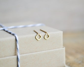 The Theia Studs | Gold Geometric Studs, 14K Gold-Filled Studs, Tiny Stud, Delicate Earring, Minimalist Stud, Little Gold Stud, Stud Earring